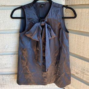 100% Silk Club Monaco Bow Sleeveless Top
